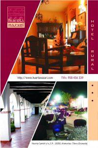 Publicidad fiestas para el hotel Huerta Nazarí