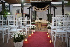 Pérgola para bodas civiles en el hotel